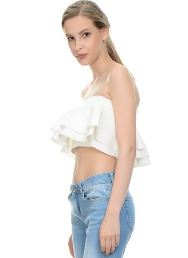 Endless Rose Bluz Beyaz